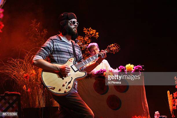Rhythm Guitarist Frank McElroy of Dr Dog performs during the 31st annual Celebrate Brooklyn Summer Season at Prospect Park Bandshell on June 27 2009...
