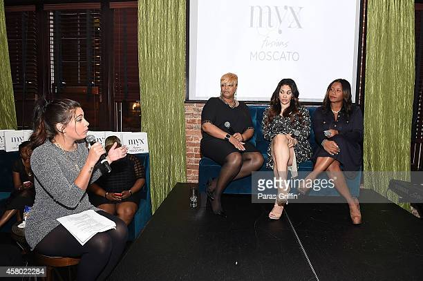 ASCAP Rhythm Soul Associate Director Jennifer Goicoechea Deb Antney Keke Wyatt and Omara S Harris onstage at the ASCAP Rhythm And Soul Presents Women...