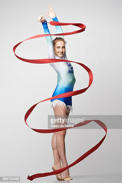 Rhythmic Gymnast Marta Pagnini is photographed for Self Assignment on February 21 2016 in Milan Italy