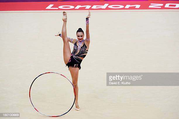 2012 Summer Olympics Kazakhstan Anna Alyabyeva in action during Women's Individual AllAround Qualification at Wembley Arena London United Kingdom...