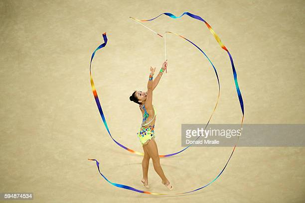 2016 Summer Olympics Team Japan in action during the Women's Team AllAround Final at the Rio Olympic Arena Rio de Janeiro Brazil 8/21/2016 CREDIT...