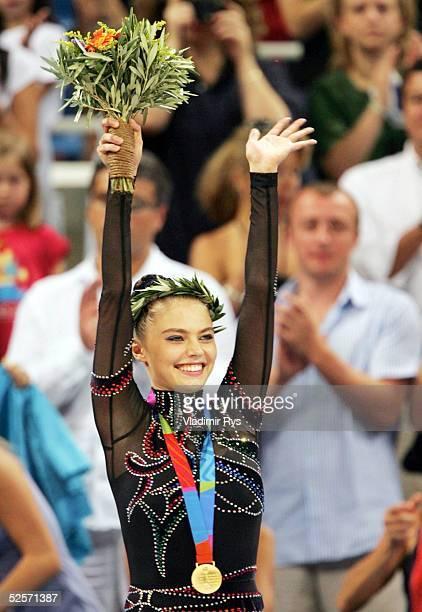 Rhythmische Sportgymnastik Olympische Spiele Athen 2004 Athen Einzel / Band Alina KABAEVA / RUS Gold 290804
