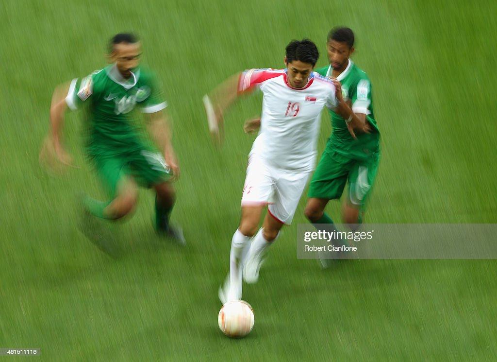 DPR Korea v Saudi Arabia - 2015 Asian Cup : Fotografía de noticias