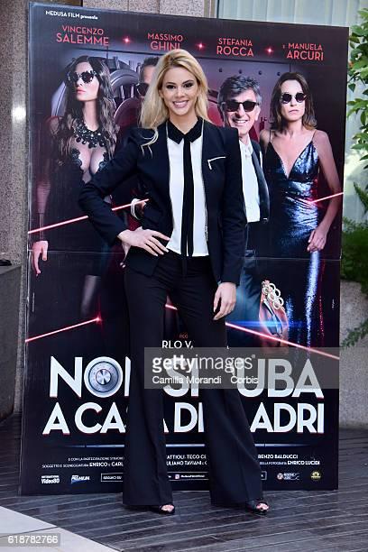 Ria Antoniou attends a photocall for 'Non Si Ruba In Casa Di Ladri' on October 28 2016 in Rome Italy