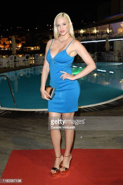 Ria Antoniou attends the 2019 Ischia Global Film Music Fest opening ceremony on July 14 2019 in Ischia Italy