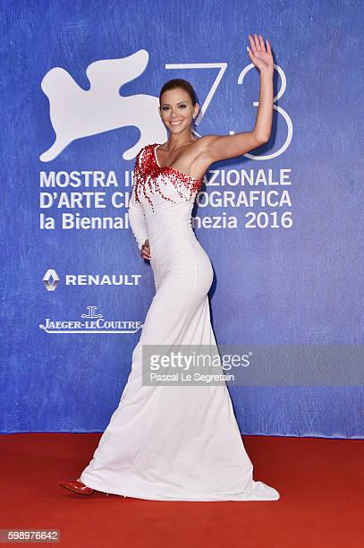 Ria Antoniou attends the premiere of 'In Dubious Battle' during the 73rd Venice Film Festival at Sala Giardino on September 3 2016 in Venice Italy
