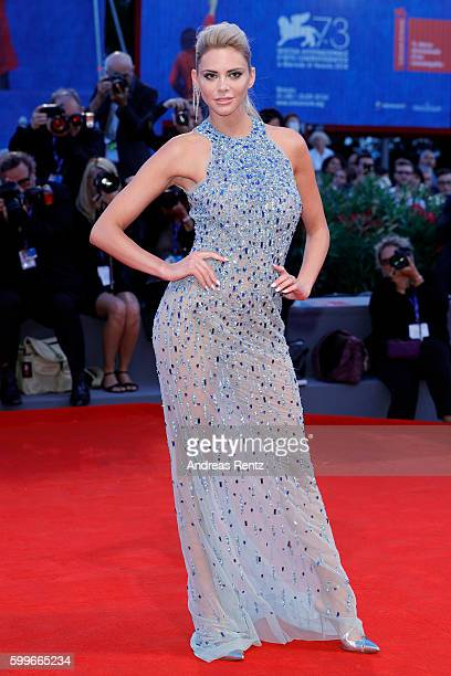 Ria Antoniou attends the premiere of 'The Bad Batch' during the 73rd Venice Film Festival at Sala Grande on September 6 2016 in Venice Italy