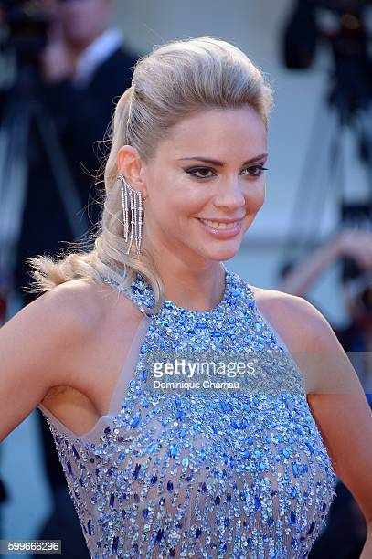 Ria Antoniou detail attends the premiere of 'The Bad Batch' during the 73rd Venice Film Festival at Sala Grande on September 6 2016 in Venice Italy