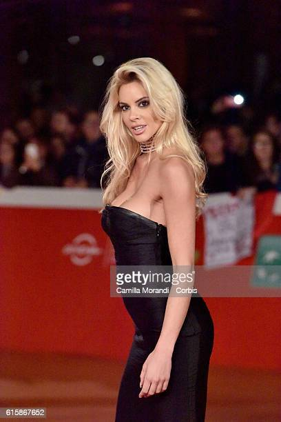 Ria Antoniou walks a red carpet for 'Florence Foster Jenkins' during the 11th Rome Film Festival on October 20 2016 in Rome Italy