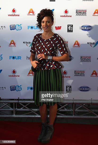 Ria Hall arrives for the 2012 Vodafone New Zealand Music Awards at Vector Arena on November 1 2012 in Auckland New Zealand