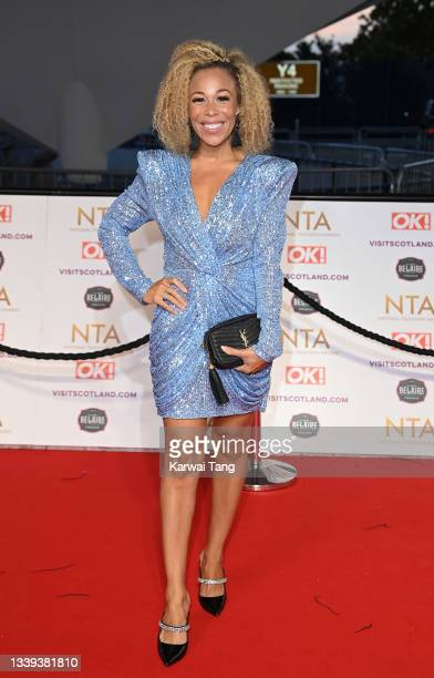 Ria Hebden attends the National Television Awards 2021 at The O2 Arena on September 09, 2021 in London, England.