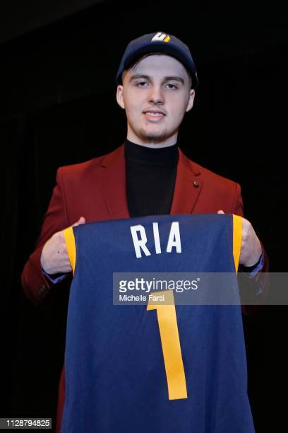 Ria of Jazz Gaming poses for a photo after being drafted number one overall during the NBA 2K League draft on March 5 2019 in Brooklyn New York at...
