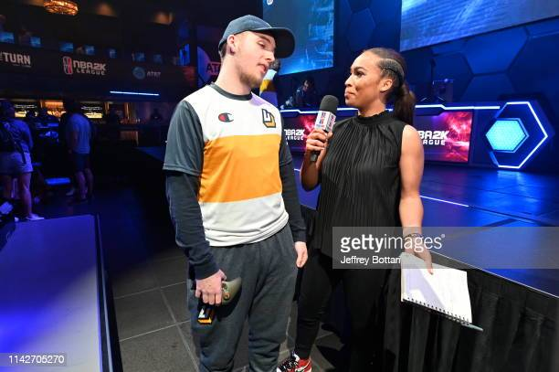 Ria of Jazz Gaming speaks after the game against Cavs Legion GC during the midseason tournament The Turn on May 10 2019 at the NBA 2K Studio in Long...
