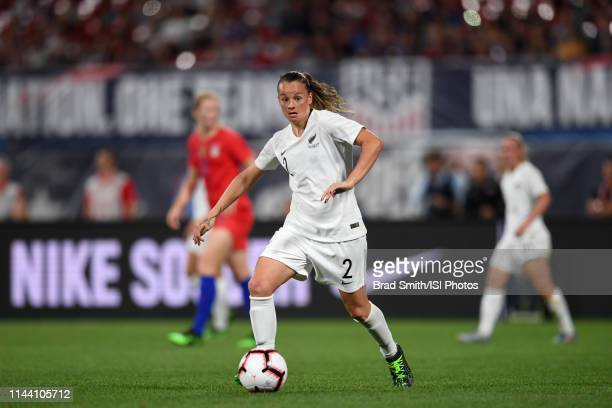 Ria Percival of New Zealand during an international friendly between the women's national teams of the United States and New Zealand on May 16 2019...