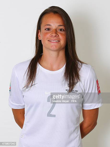 Ria Percival of New Zealand during the FIFA Women's World Cup 2015 portrait session at the Delta Edmonton South on June 3 2015 in Edmonton Canada