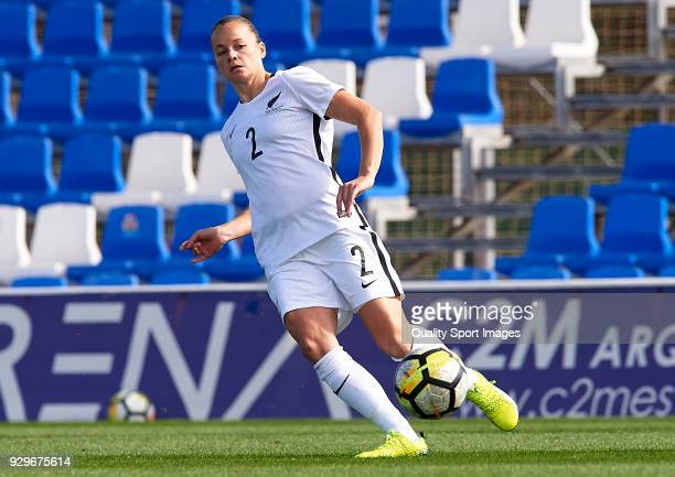 Ria Percival of New Zealand in action during the international friendly match between New Zealand Women and Scotland Women at Pinatar Arena on March...