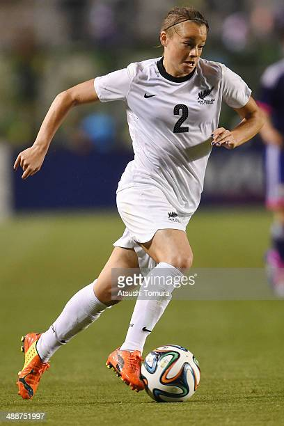 Ria Percival of New Zealand in action during the women's international friendly match between Japan and New Zealand at Nagai Stadium on May 8 2014 in...