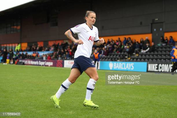 Ria Percival of Tottenham Hotspur during the Barclays FA Women's Super League match between Tottenham Hotspur and Manchester United at The Hive on...