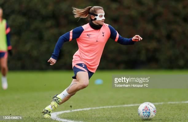 Ria Percival of Tottenham Hotspur Women during the Tottenham Hotspur Women training session at Tottenham Hotspur Training Centre on March 05, 2021 in...