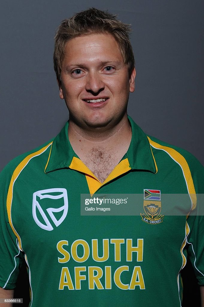 Riaan Muller poses during the South African One Day International team portait session at Grayston Southern Sun on October 20, 2008 in Johannesburg, South Africa.