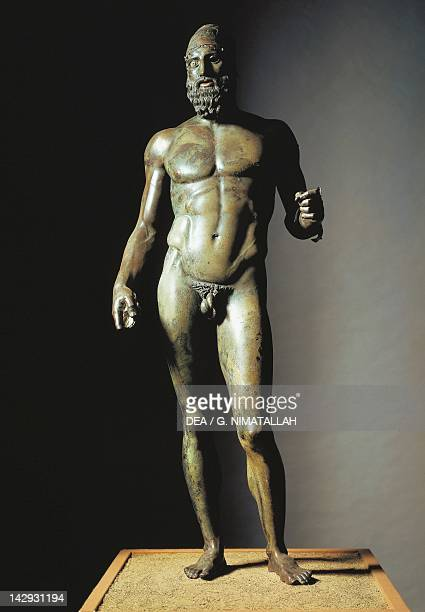 Riace Bronzes Statue B or the Elder from Greece and recovered from the waters off Riace Marina Calabria Italy Height 198 cm Ancient Greek...