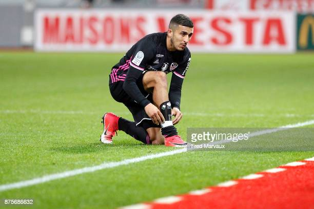 Riad Nouri of Ajaccio during the Ligue 2 match between AS Nancy and AC Ajaccio on November 17 2017 in Nancy France