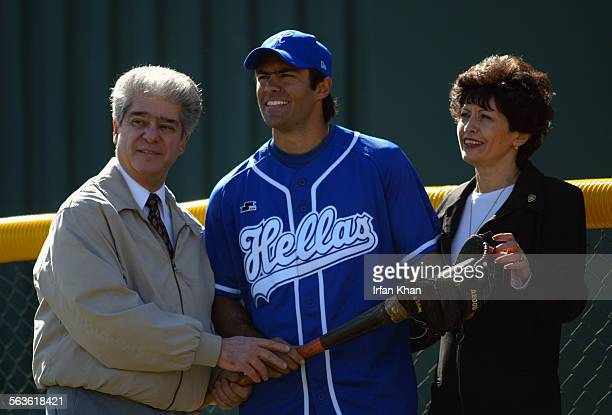 Rialto, Feb. 12, 2004 –––– Nick Theodorou a player in the Dodger farm system, will be on the Greek national baseball team competing in the Summer...