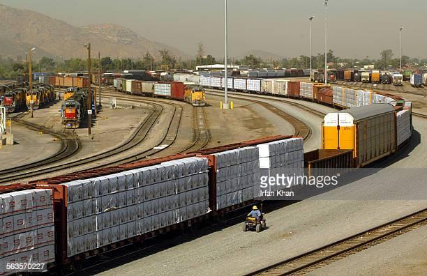 Rialto . May 13, 2004 ––– Union Pacific rail yard West of Colton in Rialto.