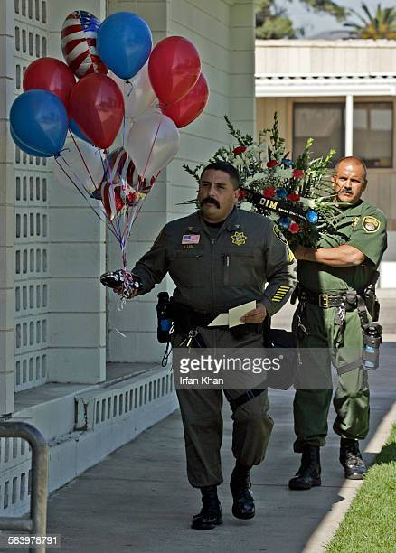 Rialto, Oct. 19, 2007 – – – Among the visitors were two correctional officers, Sgt. Jesse Lara, front, and officer Mark Yates, from the Chino prison...