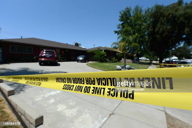 Rialto Police investigate the death of Rodney King on June 17, 2012 in Rialto, California. King, whose video beating by Los Angeles police in 1991...