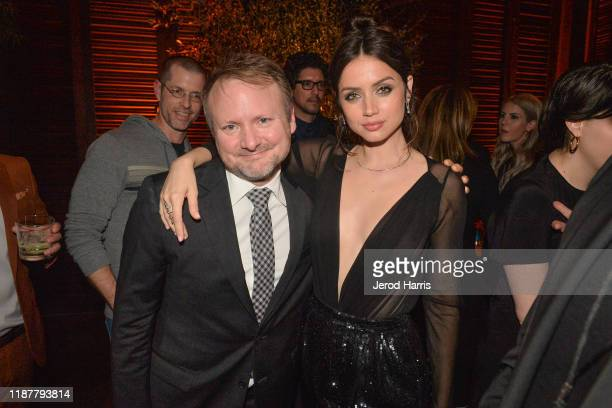 Rian Johnson and Ana de Armas attend the Premiere of Lionsgate's 'Knives Out' - After Party at Baltaire Restaurant on November 14, 2019 in Brentwood,...