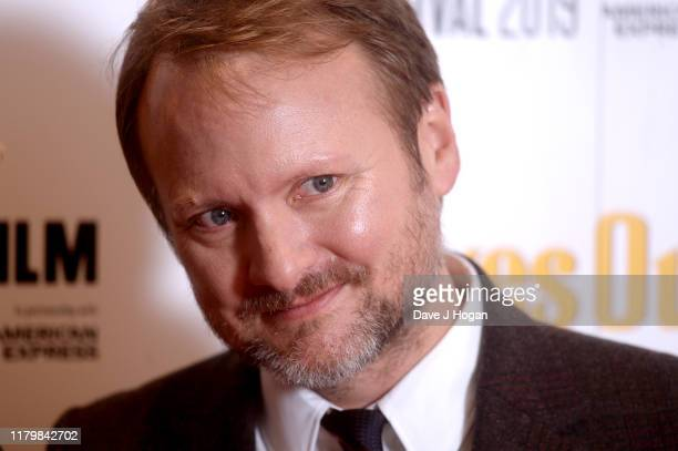 """Rian Johnson attends the """"Knives Out"""" European Premiere during the 63rd BFI London Film Festival at the Odeon Luxe Leicester Square on October 08,..."""