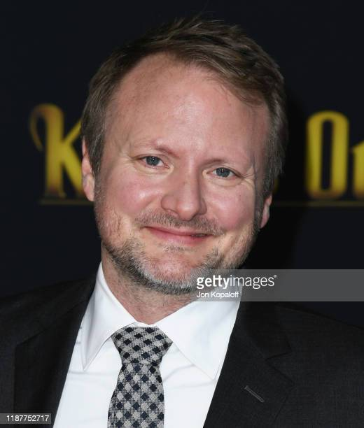 Rian Johnson attends the premiere of Lionsgate's Knives Out at Regency Village Theatre on November 14 2019 in Westwood California