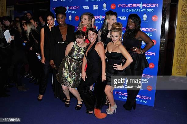 Riann Steele Sarah Hoare MJ Delaney Kate Nash Jaime Winstone Sheridan Smith and Bunmi Mojekwu attend the UK Premiere of 'Powder Room' at Cineworld...