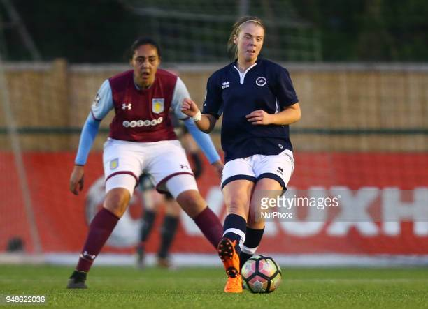 Rianna Dean of Millwall Lionesses L during FA Women's Super League 2 match between Millwall Lionesses and Aston Villa Ladies FC at St Paul's Sports...