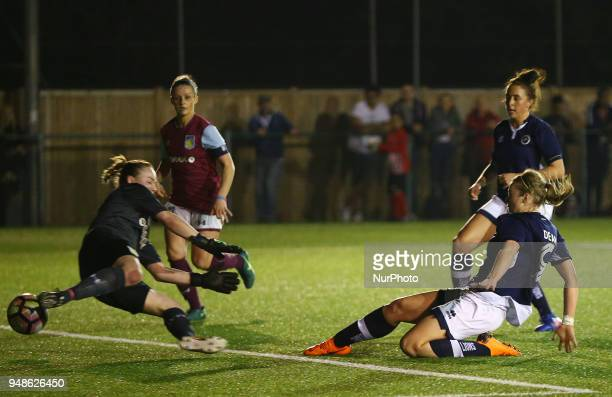 Rianna Dean of Millwall Lionesses LFC scores her sides equalising goal to make the score 11 during FA Women's Super League 2 match between Millwall...