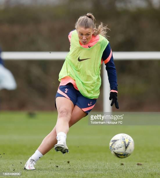 Rianna Dean of Tottenham Hotspur Women during the Tottenham Hotspur Women training session at Tottenham Hotspur Training Centre on March 05, 2021 in...