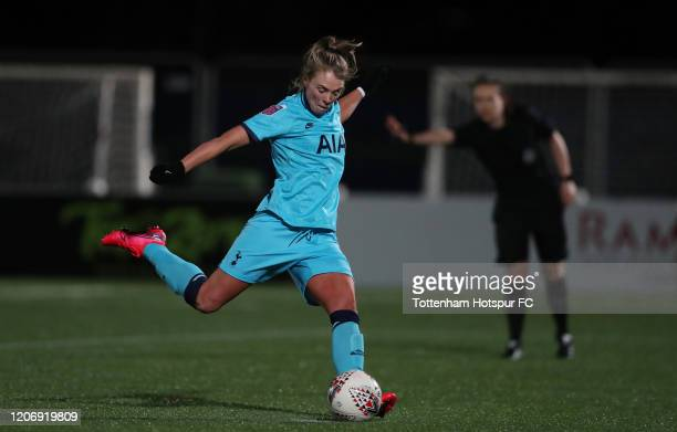 Rianna Dean of Tottenham Hotspur Women scores their second goal during the Women's FA Cup Fifth Round match between Tottenham Hotspur Women and...