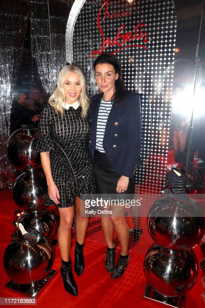 Rianna Ponting and Nina O'Brien attend the Christian Louboutin Collins Boutique opening on September 04 2019 in Melbourne Australia