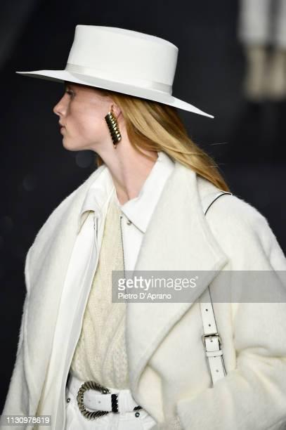 Rianne Van Rompaey walks the runway at the Alberta Ferretti show at Milan Fashion Week Autumn/Winter 2019/20 on February 20 2019 in Milan Italy
