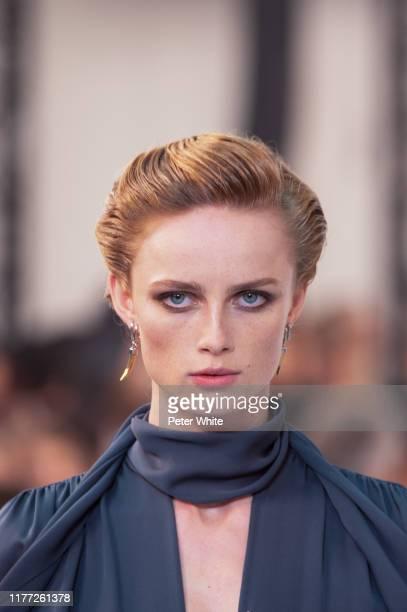 Rianne Van Rompaey walks the runway during the Chloe Womenswear Spring/Summer 2020 show as part of Paris Fashion Week on September 26, 2019 in Paris,...