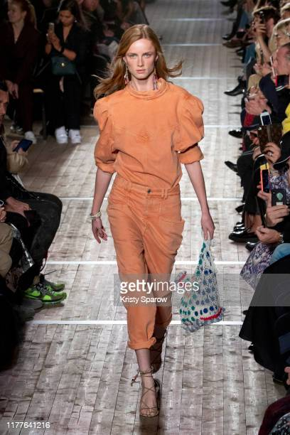 Rianne Van Rompaey walks the runway during the Isabel Marant Womenswear Spring/Summer 2020 show as part of Paris Fashion Week on September 26, 2019...
