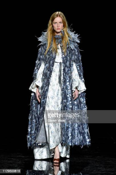 Rianne Van Rompaey walks the runway for the Marc Jacobs Fall 2019 Show at Park Avenue Armory on February 13 2019 in New York City