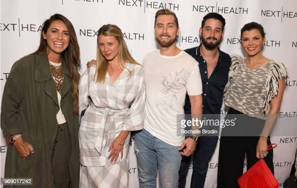 Riawna Capri Lauren Bosworth Lance Bass Michael Turchin and Ali Landry attend the Next Health Grand Opening at the Westfield Century City on June 6...