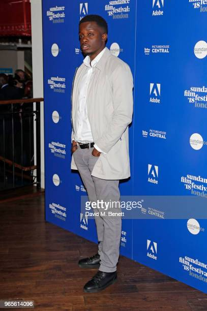 79704f71cd2e Riaze Foster attends the  Yardie  screening during the Sundance Film  Festival London at the