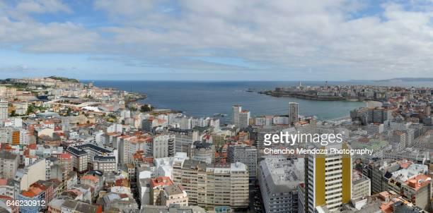 riazor bay, a coruña - galicia stock pictures, royalty-free photos & images