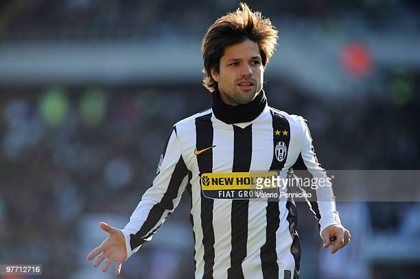 Ribas Da Cunha Diego of Juventus FC looks on during the Serie A match between Juventus FC and AC Siena at Stadio Olimpico di Torino on March 14 2010...