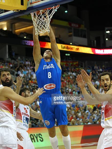Ribas of Italy in action during the FIBA EuroBasket 2015 Group B basketball match between Spain and Italy at Mercedes Benz Arena in Berlin Germany on...