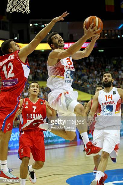 Ribas of Spain is in action during the EuroBasket 2015 group B match between Spain and Serbia at MercedesBenz Arena in Berlin Germany on September 5...