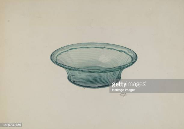 Ribbed Glass Bowl, circa 1940. Artist Beverly Chichester.